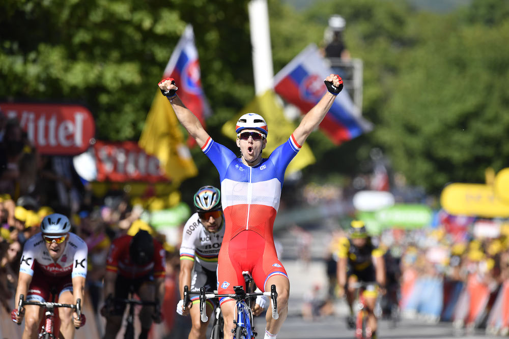 08d1536db4 Arnaud Démare wins stage four of the 2017 Tour de France. Photo  Yuzuru  Sunada
