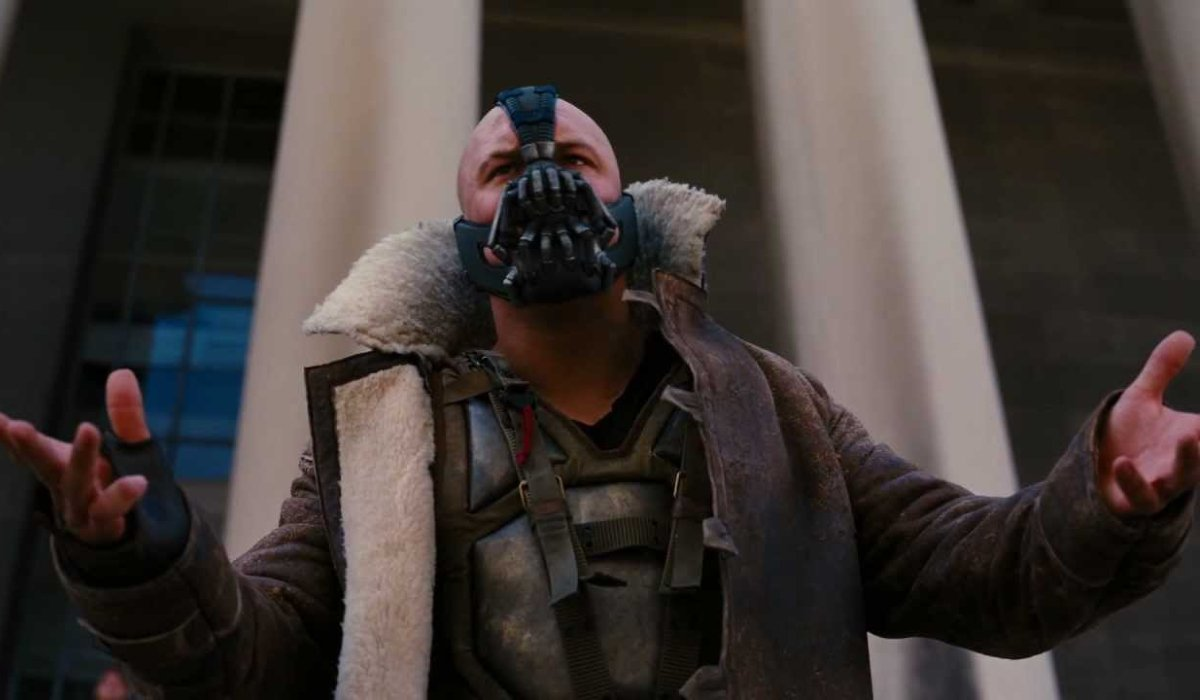 The Dark Knight Rises Bane speaks to the people