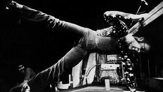 Elton John performs at Doug Weston's Troubadour on August 25, 1970 in Los Angeles