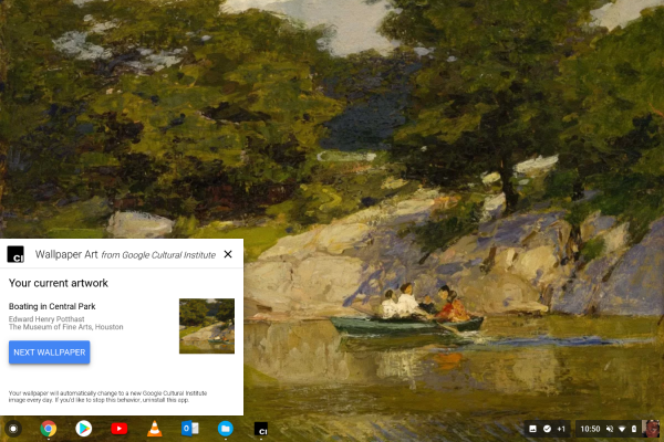 How To Turn Your Chromebook Desktop Into An Art Gallery