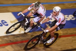 Roger Kluge and Theo Reinhardt ride the Madison
