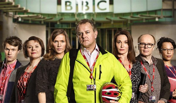 Hugh Bonneville and the cast of W1A BBC