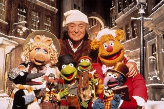 Michael Caine and The Muppets in 'The Muppet Christmas Carol'