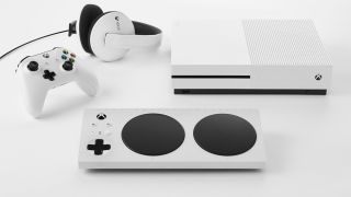 Microsoft Xbox Adaptive Controller and Series S console