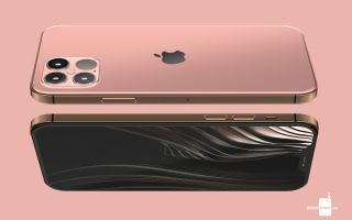 iPhone 12 render from PhoneArena