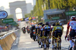 The Champs Elysees during the 2019 Tour de France