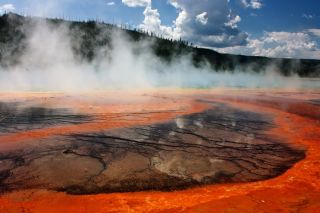 Yellowstone National Park crater