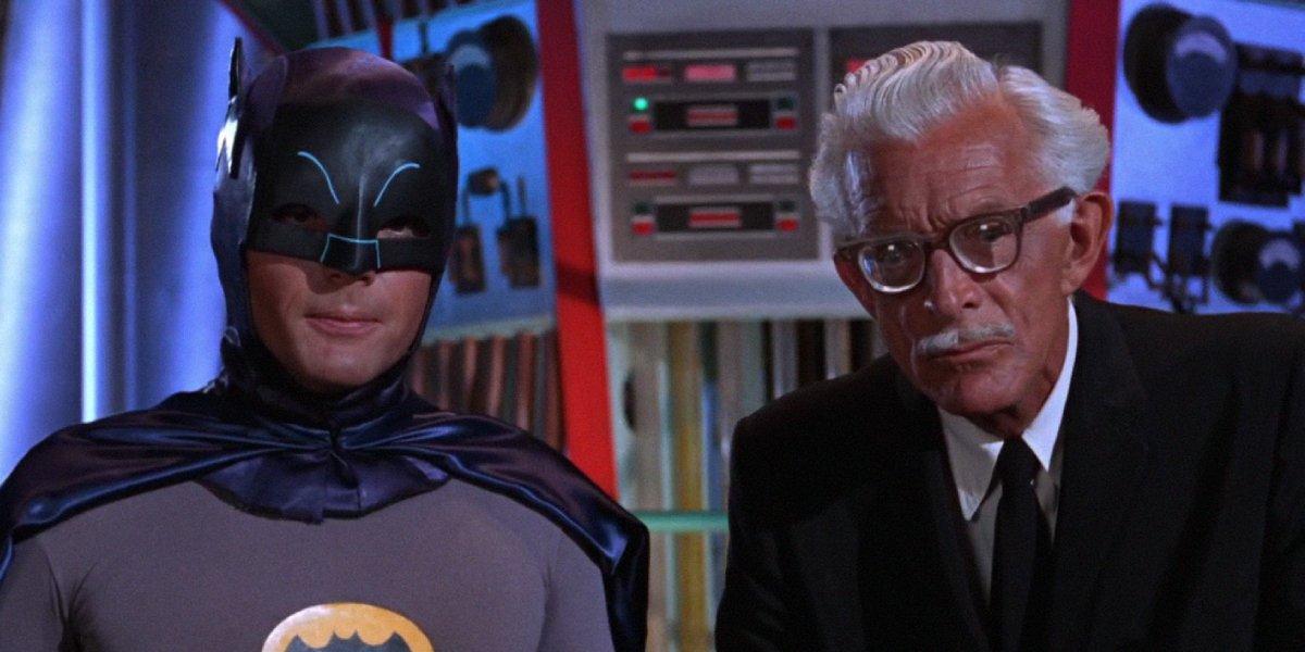 Adam West as Batman and Alan Napier as Alfred Pennyworth on Batman