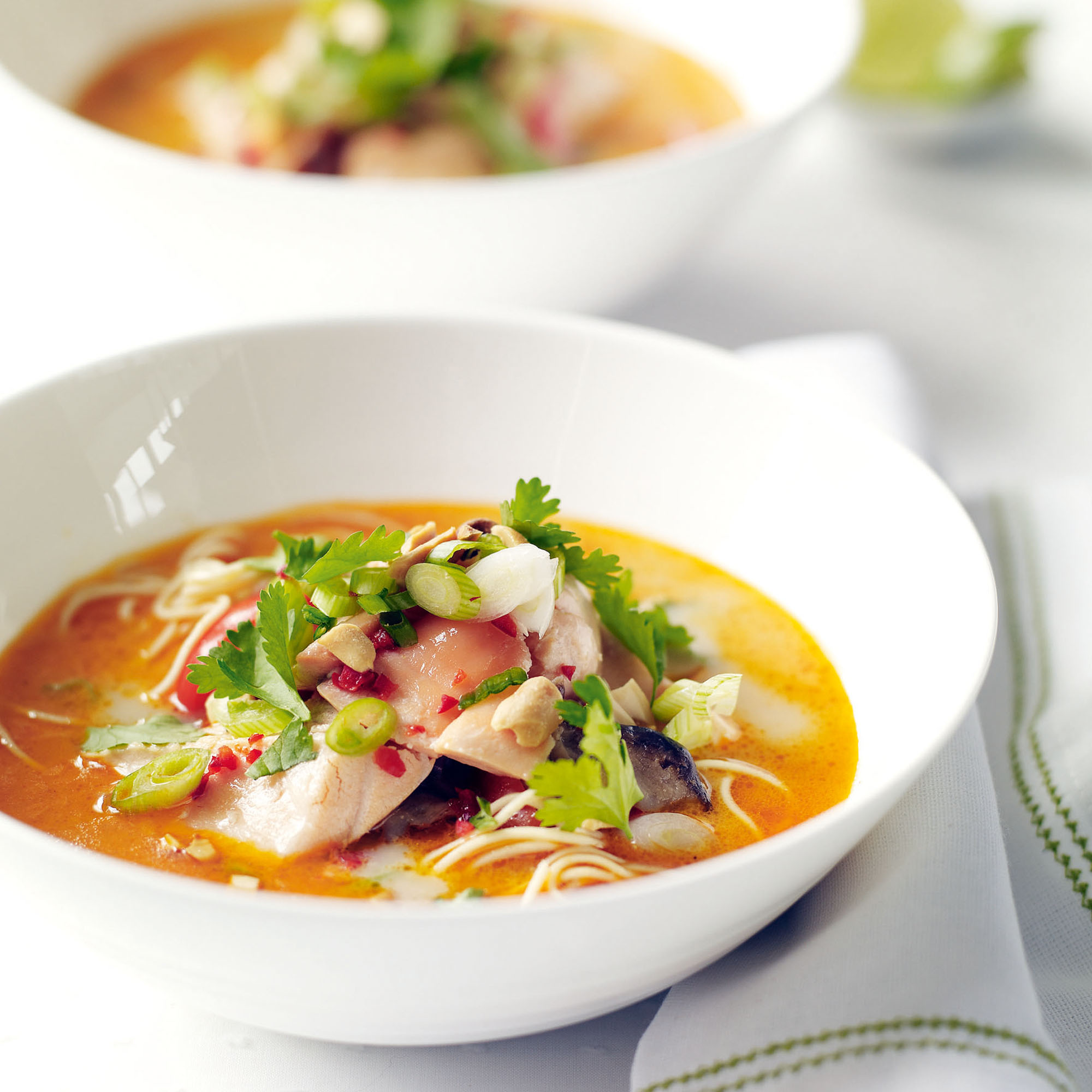 Thai Salmon Broth Lunch Recipes Woman Home