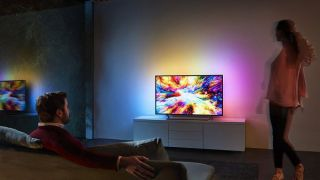 Philips Ambilight TV living room