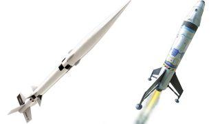 Estes' Nike-X model rocket (left) and Mars Ascent Vehicle rocket are on sale for Prime Day 2021.