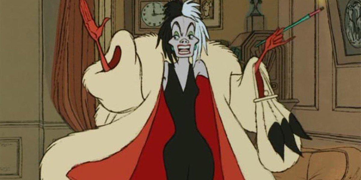 Cruella de Vil in 101 Dalmatians animated feature