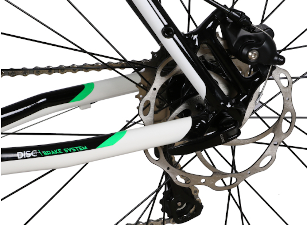 Tiagra spec of the Axe comes with Tektro cable-operated disc brakes