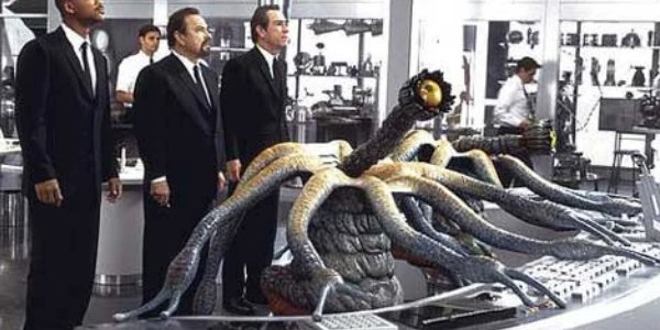 The Twins use their tentacles to observe the far reaches of the Galaxy in Men in Black.