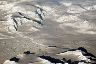 Glaciers in modern-day Antarctica. The early oxygenation of Earth may have triggered ice ages that covered the surface of the Earth with glaciers like these.