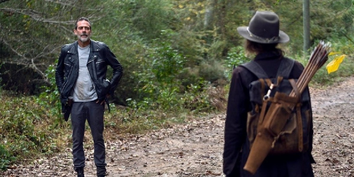 Maggie and Negan in The Walking Dead.