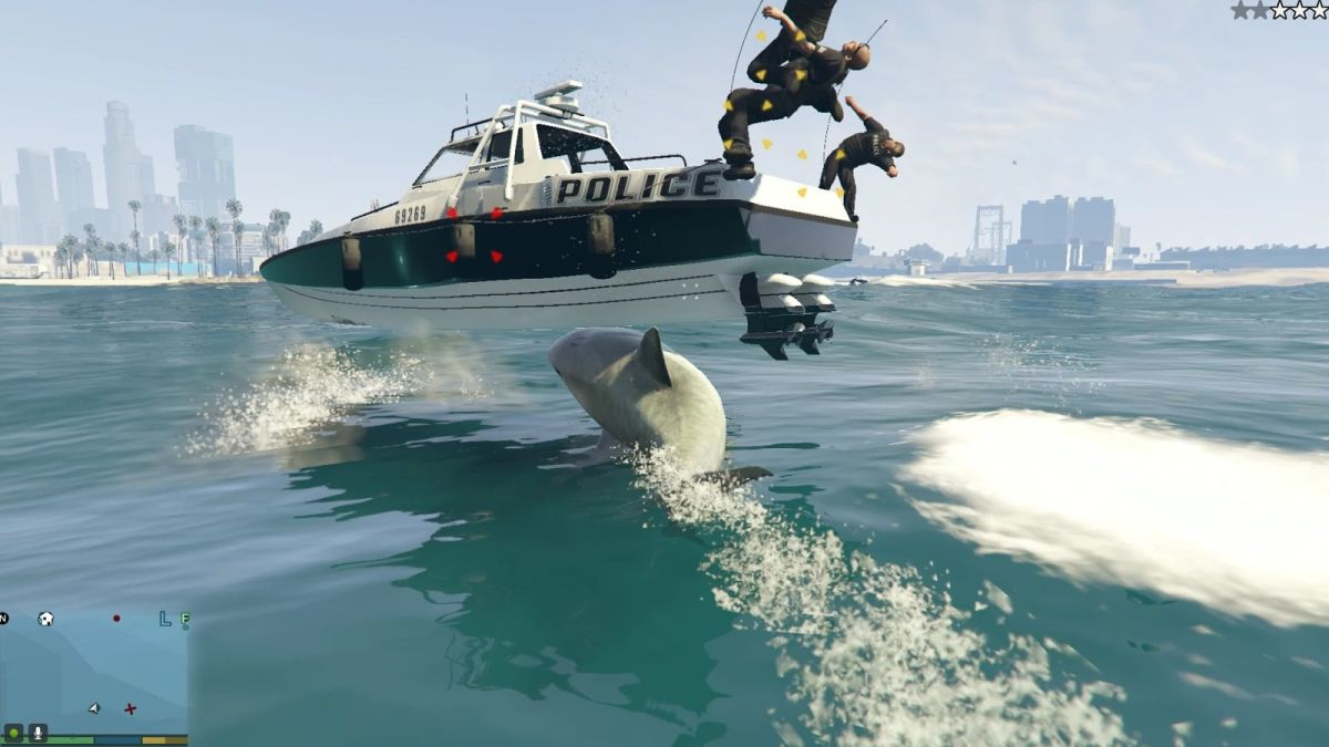 Take control of a man-eating Shark with this Grand Theft Auto V mod-in-progress