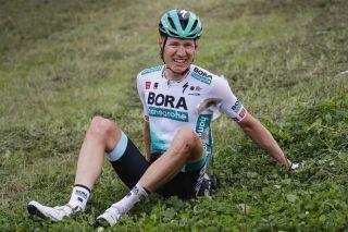 Wilco Kelderman (Bora-Hansgrohe) crashed on stage 3 of the Benelux Tour