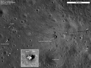 NASA's Lunar Reconnaissance Orbiter captured new images of the Apollo 17 moon landing site.