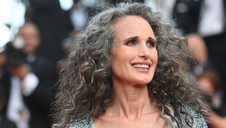 """Andie MacDowell attends the """"Annette"""" screening and opening ceremony during the 74th annual Cannes Film Festival on July 06, 2021 in Cannes, France."""