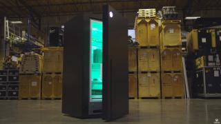 Screengrab via YouTube of Xbox Series X fridge opening