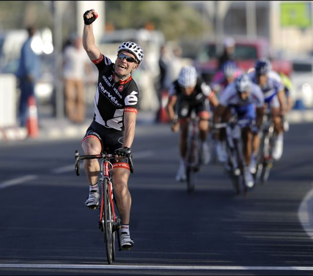 Roger Hammond wins stage two of the 2009 Tour of Qatar