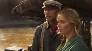 Dwayne Johnson and Emily Blunt in The Jungle Cruise.