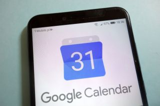 Google Calendar on an iPhone.