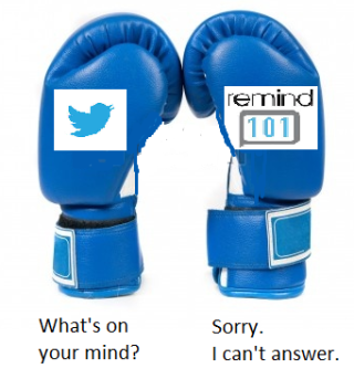 Face off: @Twitter verses @Remind101 for family outreach via texting