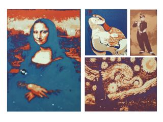 To demonstrate the working principle of resonant laser printing, the researchers printed several macroscopic images in various color tones. Here are examples of several famous paintings laser printed at 500 dots per inch.