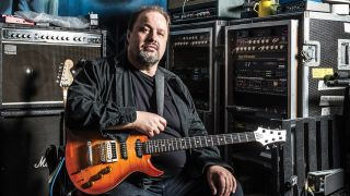 A portrait of Steve Rothery