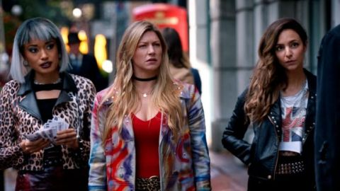 Olivia Swann, Jes Macallan and Tala Ashe in Legends of Tomorrow.