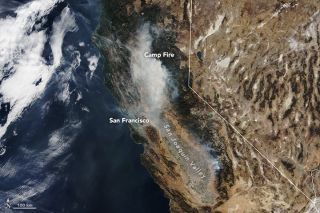 How Satellites Are Tracking Devastation Of California Wildfires From