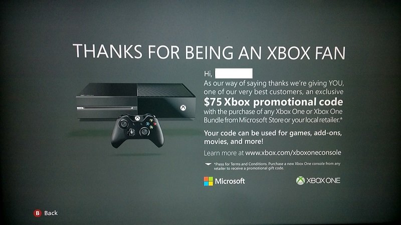 Buy An Xbox One, Get $75 From Microsoft #31629