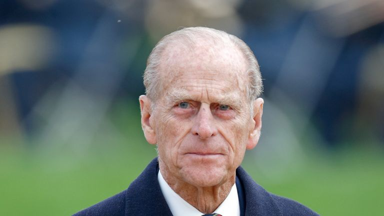 ALREWAS, UNITED KINGDOM - OCTOBER 12: (EMBARGOED FOR PUBLICATION IN UK NEWSPAPERS UNTIL 24 HOURS AFTER CREATE DATE AND TIME) Prince Philip, Duke of Edinburgh (wearing a Royal Marines regimental tie) attends a dedication ceremony for the new Armed Forces Memorial at the National Memorial Arboretum on October 12, 2007 in Alrewas, England. The Armed Forces Memorial is made from Portland stone into which the names of British armed forces personnel who have been killed whilst on active duty or died in terrorist attacks since the Second World War have been carved. (Photo by Max Mumby/Indigo/Getty Images)