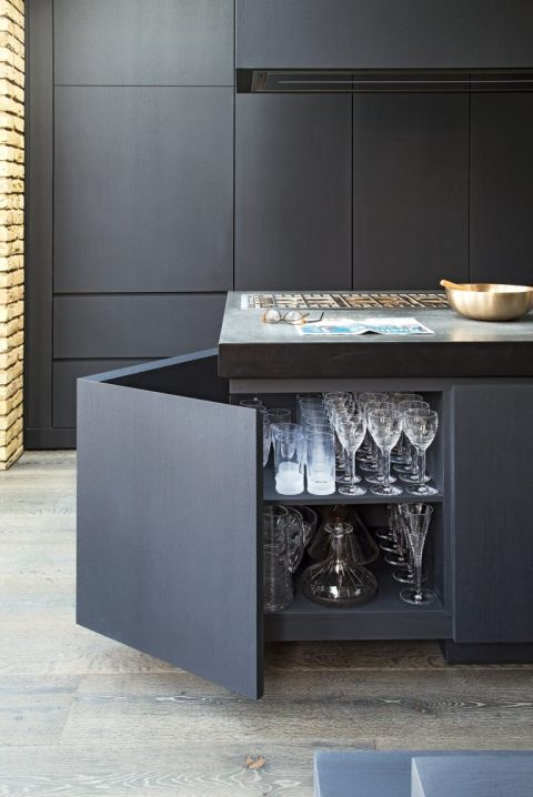Grey Kitchen Ideas, Cement Grey Kitchen Cabinets