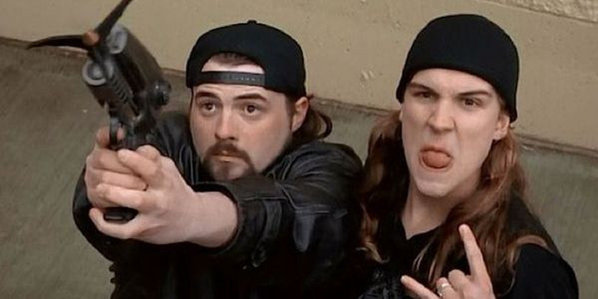 Kevin Smith and Jason Mewes in Mallrats