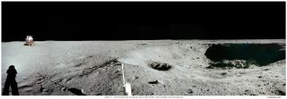 Apollo 11 East Crater Panorama