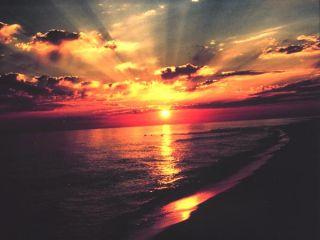 beach, sand, Florida, sunset