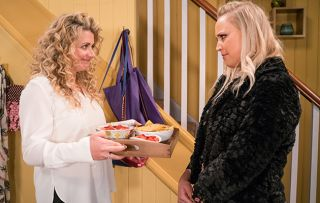 Tracy nearly catches Maya and Jacob in Emmerdale