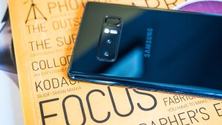 The Galaxy Note 8's camera lacks a variable aperture