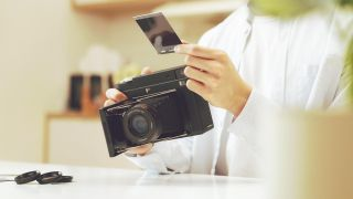 InstantKon SF70: A fully manual Polaroid SX-70 that takes cheaper Instax film
