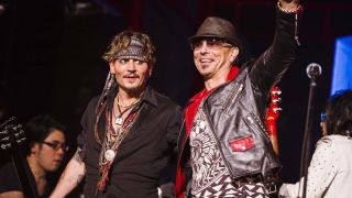 Johnny Depp and Rudolf Schenker