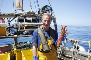 A crawfish catch in 'Robson Green: Coastal Fishing'.