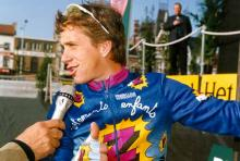 Greg Lemond at the start of the 1992 Tour of Flanders.