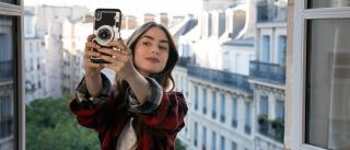 """Lily Collins as Emily Cooper in """"Emily in Paris"""" on Netflix."""