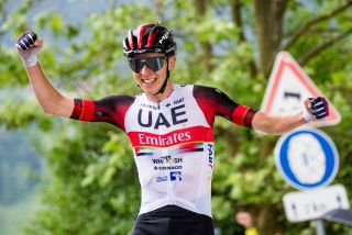 Tadej POGACAR of UAE TEAM EMIRATES celebrate victory during 2nd Stage of 27th Tour of Slovenia 2021 cycling race between Zalec and Celje 147 km on June 10 2021 in Slovenia Photo by Matic Klansek Velej Sportida