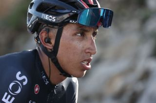 Team Ineos rider Colombias Egan Bernal rides during the 15th stage of the 107th edition of the Tour de France cycling race 175 km between Lyon and Grand Colombier on September 13 2020 Photo by KENZO TRIBOUILLARD AFP Photo by KENZO TRIBOUILLARDAFP via Getty Images