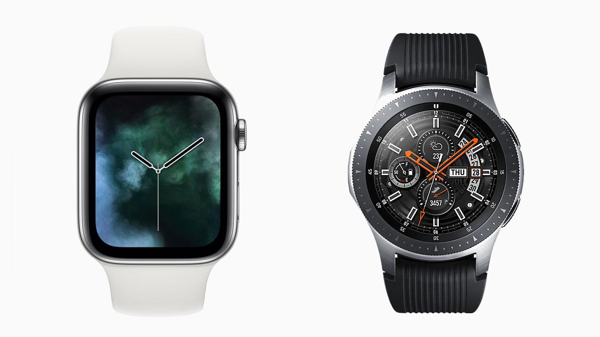 f6312df8b Apple Watch 4 vs Samsung Galaxy Watch: battle of the great new smartwatches  | TechRadar