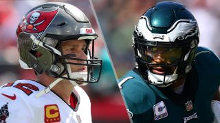 Tom Brady and Jalen Hurts will face off in the Buccaneers vs Eagles live stream